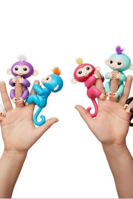 6 colors Pre-sale retail Fingerlings - Interactive Baby Monkey Finger Toys Monkey Electronic Smart Fingers Monkey 130mm